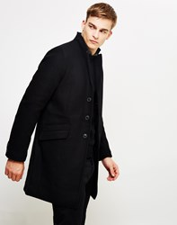 Only And Sons Julian Trench Coat Black Navy