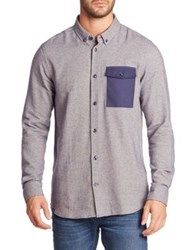 Wesc Cotton Long Sleeve Shirt Navy
