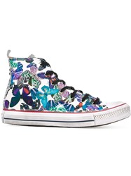 Converse Butterfly High Top Sneakers White