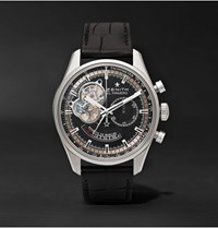 Zenith El Primero Chronomaster Stainless Steel And Alligator Watch
