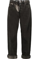 Mcq By Alexander Mcqueen Washed High Rise Boyfriend Jeans Gray