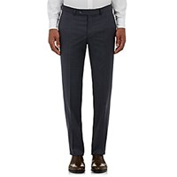 Barneys New York Men's Checked Trousers Navy Dark Grey Light Blue Navy Dark Grey Light Blue