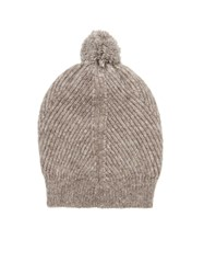 Stella Mccartney Ribbed Knit Bobble Beanie Hat