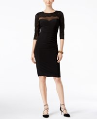 Inc International Concepts Illusion Lace Sheath Dress Only At Macy's Deep Black