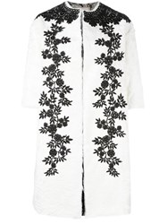 Antonio Marras Macrame Detailed Coat White