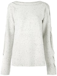 Ports 1961 Split Sleeve Detail Jumper Nude And Neutrals