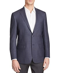 Hart Schaffner Marx Micro Pattern Classic Fit Sport Coat 100 Bloomingdale's Exclusive Navy Blue Red