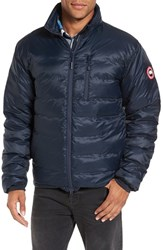 Canada Goose Men's 'Lodge' Slim Fit Packable Windproof 750 Down Fill Jacket Ink Blue Firefly
