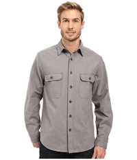 Woolrich Expedition Chamois Shirt Steel Gray Men's Long Sleeve Button Up