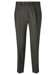 John Lewis And Co. Bennett Donegal Wool Tailored Suit Trousers Green