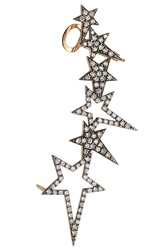 Diane Kordas 18Kt Rose Gold Ear Cuff With White Diamonds