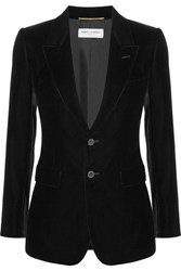 Saint Laurent Angie Velvet Blazer Black