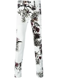 Ann Demeulemeester Floral Print Trousers White
