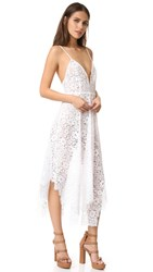 For Love And Lemons Rosemary Midi Dress Ivory