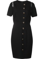 Elie Tahari Dislocated Button Fastening Dress Black