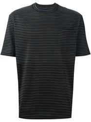 Lanvin Striped T Shirt Black
