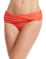 Karen Kane Fiji Twist Bikini Bottom Orange