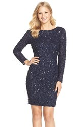 Adrianna Papell Women's Embellished Scoop Back Cocktail Dress Navy