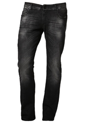 Volcom Vorta High Slim Fit Jeans Washed Black Black Denim