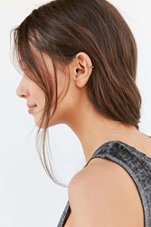 Luv Aj Pave Crescent Threader Earring Silver