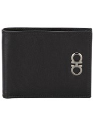 Salvatore Ferragamo Metal Logo Detail Wallet Black