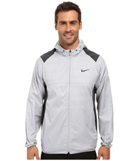 Nike Printed Packable Hooded Jacket Wolf Grey Reflective Silver Men's Coat White