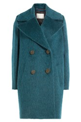 By Malene Birger Wool Coat With Mohair And Alpaca Turquoise