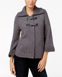 Jm Collection Toggle Cardigan Only At Macy's Charcoal Heather