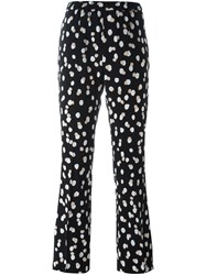 Altuzarra Dotted Print Flared Trousers Black
