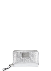 Marc By Marc Jacobs Wingman Silver Leather Wallet
