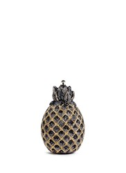 Judith Leiber 'Pineapple' Crystal Pave Minaudiere Multi Colour