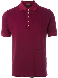 Massimo Alba Classic Polo Shirt Pink And Purple