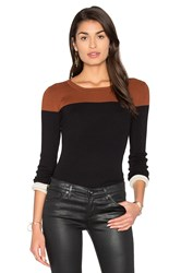 525 America Color Block Sweater Black