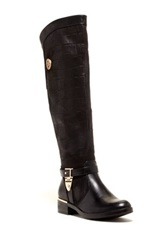 Godiva Amanda Textured Over The Knee Boot Black