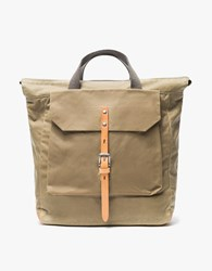 Ally Capellino Frances Waxy Small Rucksack Beige