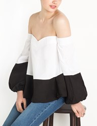 Pixie Market Dual Color Off The Shoulder Top By New Revival
