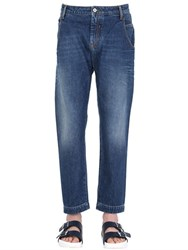 Ports 1961 18Cm Cropped Washed Cotton Denim Jeans