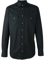Dolce And Gabbana Western Style Shirt Black