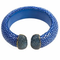 Latelita London Stingray Cuff Royal Blue Sapphire Blue Gold