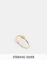 Asos Gold Plated Sterling Silver Knot Ring