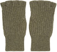 Rag And Bone Green Cashmere Kaden Gloves