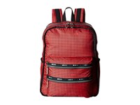 Le Sport Sac Functional Backpack Happy Check Backpack Bags Red