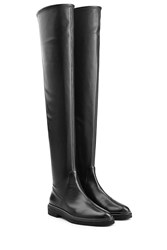 Sergio Rossi Over The Knee Leather Boots Black
