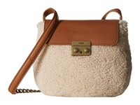 Ugg Vivenne Sheepskin Crossbody Chestnut Natural Cross Body Handbags Brown