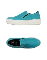 Bb Washed By Bruno Bordese Low Tops And Trainers Azure