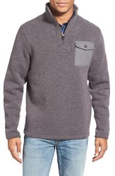 Men's Timberland 'Branch River' Quarter Zip Fleece Sweater Tornado Heather