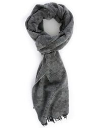 Billtornade Black Grey Damier Checkers Scarf