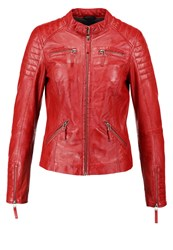 Freaky Nation Say Yes Leather Jacket Red