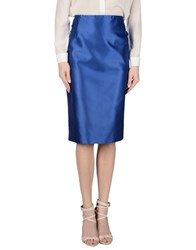 Clips Skirts 3 4 Length Skirts Women Bright Blue
