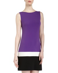 Ali Ro Colorblock Sleeveless Jersey Dress Concord Gr